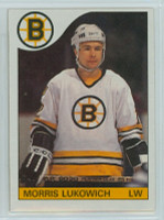 1985-86 Topps Hockey Morris Lukowich Boston Bruins Near-Mint