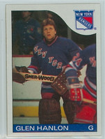 1985-86 Topps Hockey Glen Hanlon New York Rangers Near-Mint to Mint