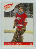 1985-86 Topps Hockey Greg Stefan Detroit Red Wings Near-Mint to Mint