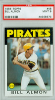 1986 Topps Baseball 48 Bill Almon Pittsburgh Pirates PSA 9 Mint