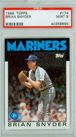 1986 Topps Baseball 174 Brian Snyder Seattle Mariners PSA 9 Mint