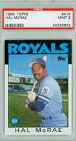 1986 Topps Baseball 415 Hal McRae Kansas City Royals PSA 9 Mint