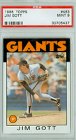 1986 Topps Baseball 463 Jim Gott San Francisco Giants PSA 9 Mint