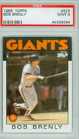 1986 Topps Baseball 625 Bob Brenly San Francisco Giants PSA 9 Mint