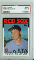 1986 Topps Baseball 661 Roger Clemens Boston Red Sox PSA 9 Mint