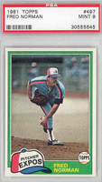 1981 Topps Baseball 497 Fred Norman Montreal Expos PSA 9 Mint