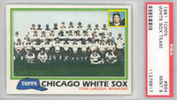 1981 Topps Baseball 664 White Sox Team PSA 9 Mint