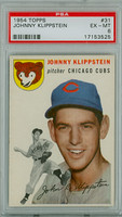 1954 Topps Baseball 31 Johnny Klippstein Chicago Cubs PSA 6 Excellent to Mint