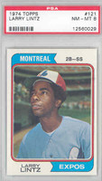 1974 Topps Baseball 121 Larry Lintz Montreal Expos PSA 8 Near Mint to Mint