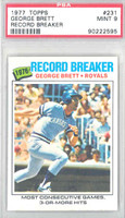 1977 Topps Baseball 231 George Brett HL Kansas City Royals PSA 9 Mint