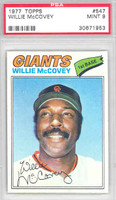 1977 Topps Baseball 547 Willie McCovey San Francisco Giants PSA 9 Mint