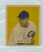 1949 Bowman Baseball 168 Doyle Lade High Number Very Good