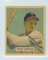 1949 Bowman Baseball 177 Stan Lopata High Number Excellent to Excellent Plus