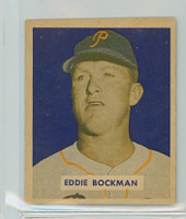 1949 Bowman Baseball 195 Eddie Bockman High Number Excellent to Mint