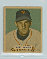 1949 Bowman Baseball 202 Larry Jansen High Number Fair to Good