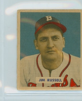 1949 Bowman Baseball 235 Jim Russell High Number Fair to Good