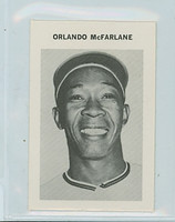 1969 Milton Bradley Baseball 185 Orlando McFarlane California Angels Near-Mint