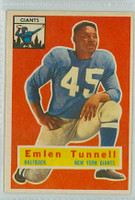 1956 Topps Football 17 Emlen Tunnell New York Giants Near-Mint