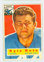 1956 Topps Football 29 Kyle Rote New York Giants Very Good