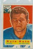 1956 Topps Football 29 Kyle Rote New York Giants Near-Mint to Mint