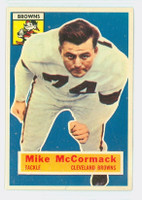 1956 Topps Football 105 Mike McCormack Cleveland Browns Very Good