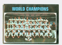 1971 Topps Baseball 1 World Champions Baltimore Orioles Fair to Good