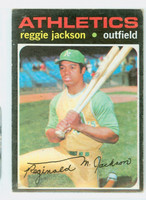 1971 Topps Baseball 20 Reggie Jackson Oakland Athletics Good to Very Good