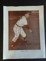 Baseball Magazine Player Posters 1948 Bob Lemon Cleveland Indians Very Good