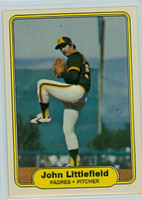 1982 Fleer Baseball 576 b John Littlefield ERR  San Diego Padres Near-Mint to Mint