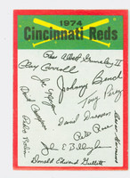 1974 Topps Checklists 7 Cincinnati Reds Near-Mint