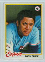 1978 Topps Baseball 15 Tony Perez Montreal Expos Near-Mint to Mint