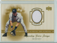 2000 Upper Deck Legendary Jerseys Insert 1:48 Derek Jeter New York Yankees Near-Mint to Mint