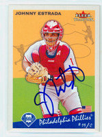 Johnny Estrada AUTOGRAPH 2002 Fleer Tradition 1934 Goudey Design Phillies 