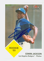 Edwin Jackson AUTOGRAPH 2003 Fleer Tradition 1963 Fleer Design Dodgers 