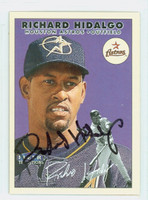 Richard Hidalgo AUTOGRAPH 2000 Fleer Tradition Reds 