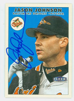 Jason Johnson AUTOGRAPH 2000 Fleer Tradition Orioles 