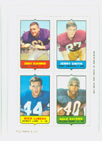 1969 Topps Football 4-1s Alderman|Smith|Sayers|LeBeau Near-Mint