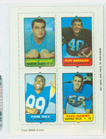 1969 Topps Football 4-1s Bishop|Banaszak|Guidry|Day Near-Mint
