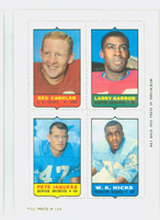 1969 Topps Football 4-1s Carolan|Garron|Hicks|Jacques Near-Mint