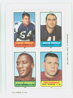 1969 Topps Football 4-1s Howley|Piccolo|Hanburger|Barnes Near-Mint