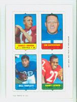 1969 Topps Football 4-1s Johnson|Katcavage|Lewis|Triplett RED  Near-Mint
