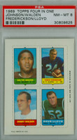 1969 Topps Football 4-1s Johnson|Fredrickson|Lloyd|Walden PSA 8 Near Mint to Mint