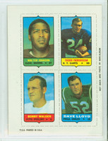 1969 Topps Football 4-1s Johnson|Fredrickson|Lloyd|Walden Excellent