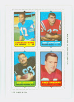1969 Topps Football 4-1s King|Cappadona|Arbanas|Davidson Near-Mint