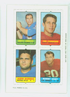 1969 Topps Football 4-1s Lamonica|Cunningham|Hunt|Barber Near-Mint