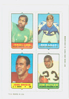 1969 Topps Football 4-1s Lang|Lilly|Butler|Brodie Near-Mint