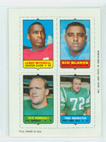 1969 Topps Football 4-1s Mitchell|Blanks|Rochester|Perreault Near-Mint