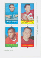 1969 Topps Football 4-1s Suggs|Dawson|Headrick|Denson Excellent