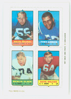 1969 Topps Football 4-1s Walker|Lorick|Olsen|Wilcox Near-Mint