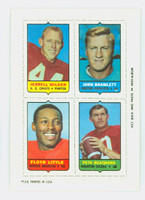 1969 Topps Football 4-1s Wilson|Bramlett|Beathard|Little Excellent to Mint